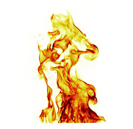 flametongue: Fire flames on white background