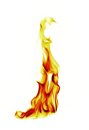 blue flame: Fire flames on white background