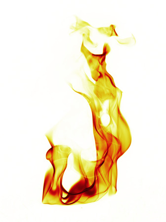 Fire flames on white background Stok Fotoğraf - 36535594