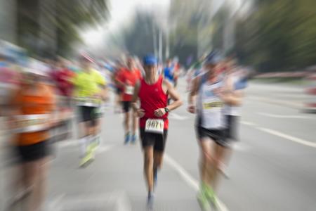 trajectoire: marathonien internationale Banque d'images