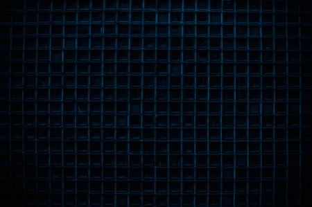 Deep Blue Screen door detail pattern background or texture photo
