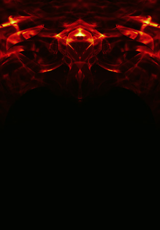 fire surround: abstract alien frame on black bacground Stock Photo