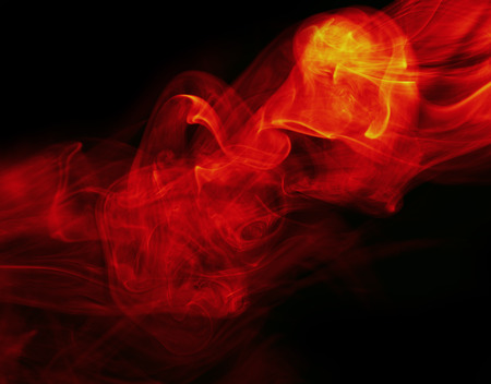 firestorm: abstract fire background on black Stock Photo