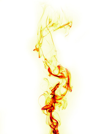 abstract fire flame on white background Stock Photo