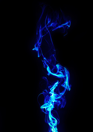 gas fireplace: abstract blue energy on black background