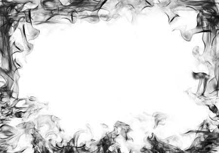 smoke frame on white background Stock Photo