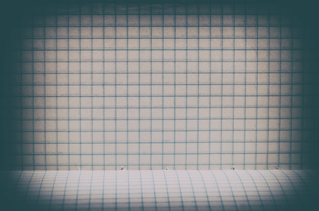 crinkly: Vintage lined paper background with floor Stock Photo