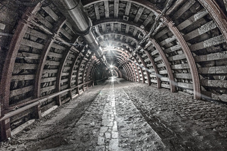 Underground Tunnel in the Mine, HDR
