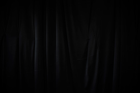 curtain or drapes dark background Stock Photo