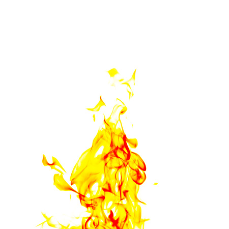 flametongue: single fire flame on black background in high resolution. Stock Photo