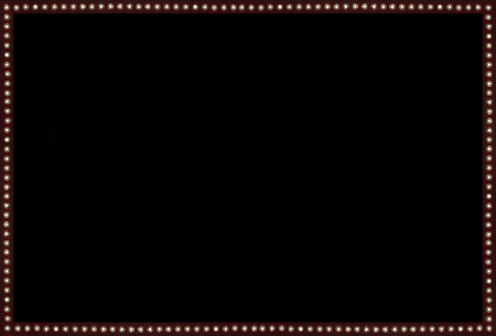 light show: Red Back stage Light on black Space Background Frame Stock Photo