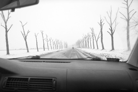 space weather tire: Winter Driving - Winter Road, inside the car