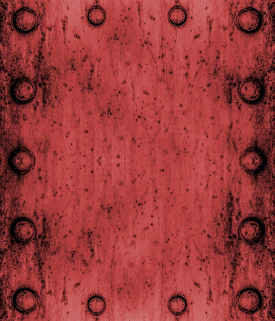 metallic texture: red Metal plate texture or background Stock Photo