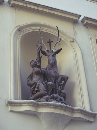 wierd: wierd statue on Prague Town Square