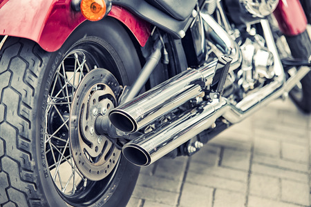 harley davidson: WROCLAW, POLAND June 27, 2015: Detail and logo of Harley - Davidson  during the motorshow in Wroclaw June 27, 2015 Editorial