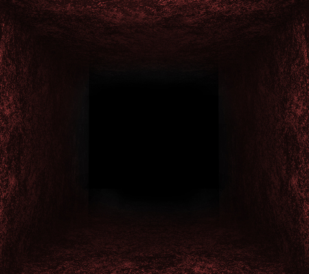 black hole: dark red stone hole. black background
