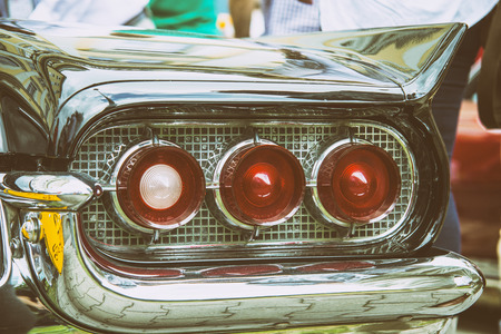 orginal: vintage old time rear lights Stock Photo