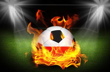 Poland Ireland Soccer ball on fire, Football Euro 2016