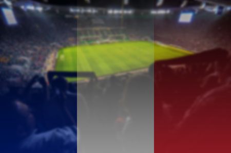 euro 2016 stadium with blending France flag
