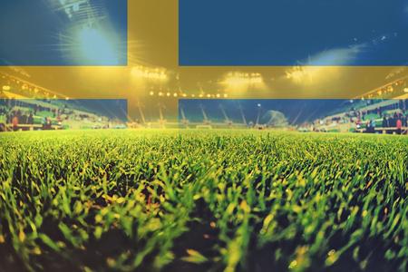 bandera suecia: 2.016 euros estadio con la bandera de Suecia mezclando