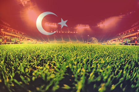 blending: euro 2016 stadium with blending Turkey flag