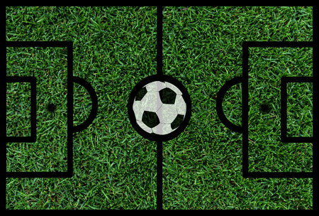 pitch: football soccer pitch with ball