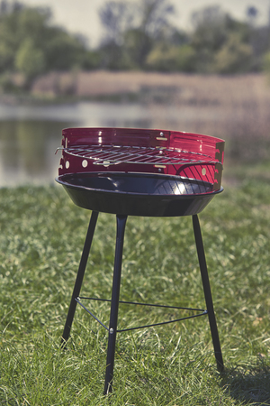 broil: New grill ready to use in garden