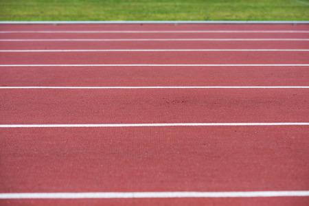 Bacground: close up on running track, athletic bacground Stock Photo
