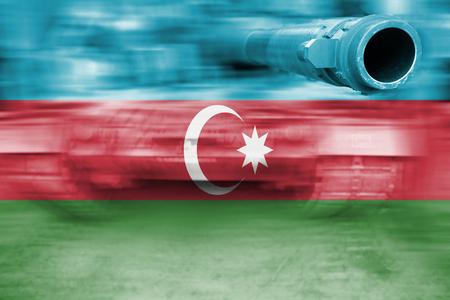 tanque de guerra: tanque de guerra con la mezcla de la bandera de Azerbaiy�n