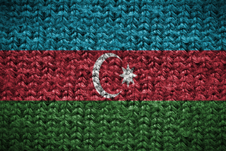 blending: cotton background with blending  Azerbaijan flag