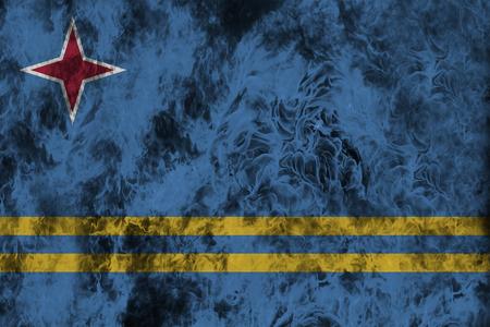 aruba flag: Fire flames texture or background with blending  Aruba flag