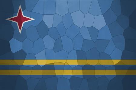 aruba flag: Mozaic background or texture with blending  Aruba flag