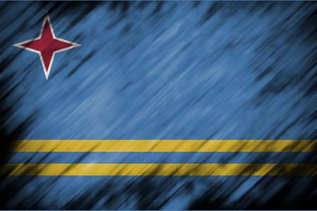 aruba flag: motion blur backgound or texture with blending  Aruba flag
