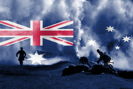 blending: war theme with blending  Australia flag