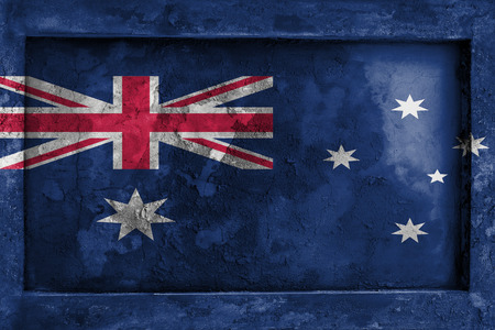 blending: Grunge gothic rock frame with blending  Australia flag Stock Photo