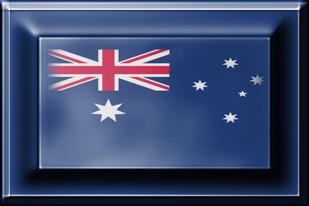 press button: press button with blending  Australia flag