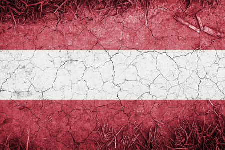 blending: Cracked earth backround with blending  Austria flag