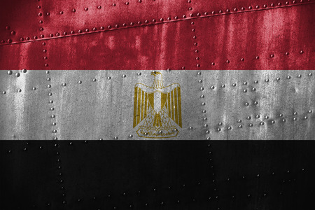 bandera egipto: metal texutre or background with Egypt flag
