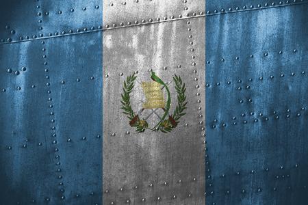 bandera de guatemala: texutre de metal o de fondo con la bandera de Guatemala