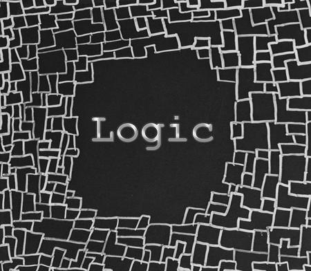 logica: Lógica escrito en la pizarra abstracta Foto de archivo
