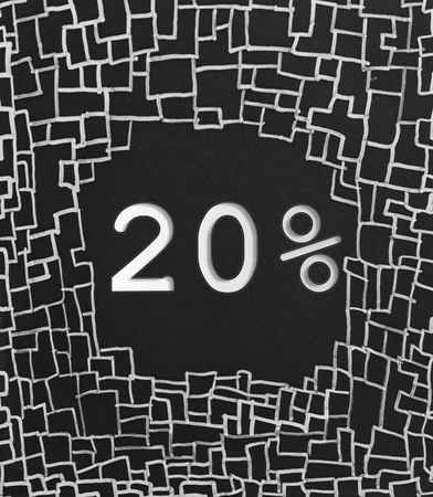 good deal: 20% OFF written text on black abstract background