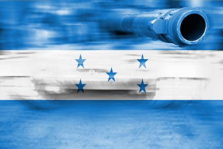 bandera honduras: el tema de la fuerza militar, el tanque de desenfoque de movimiento de la bandera de Honduras