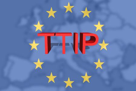 scepticism: TTIP - Transatlantic Trade and Investment Partnership on Euro Union background