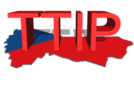 investment real state: TTIP - Transatlantic Trade and Investment Partnership on Czech Republic map background