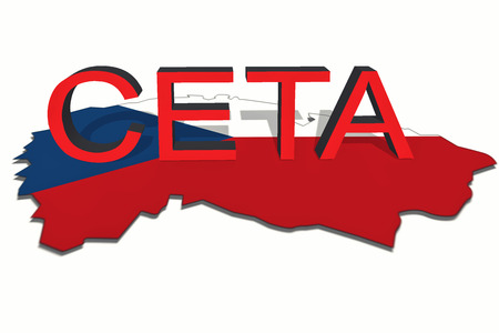 comprehensive: CETA - comprehensive economic and trade agreement on Czech Republic map