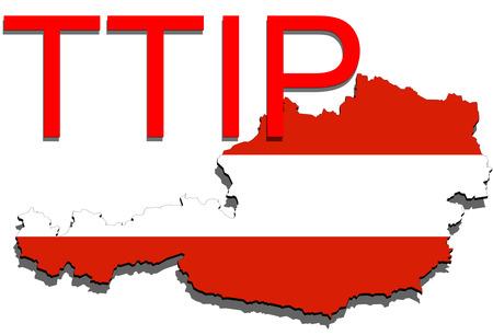 austria map: TTIP - Transatlantic Trade and Investment Partnership on Austria map