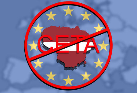 comprehensive: anty CETA - comprehensive economic and trade agreement, Lithuania map