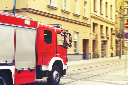 suppression: fire suppression or fire brigade motion blur