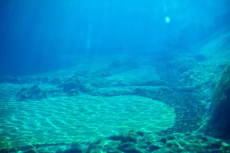 Sea deep or ocean underwater Stock Photo