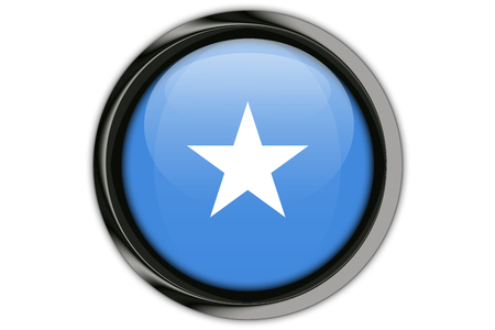 Somalia flag in the button pin Isolated on White Background